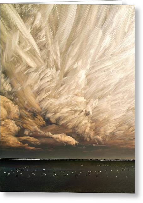 Cloud Chaos Cropped Greeting Card by Matt Molloy