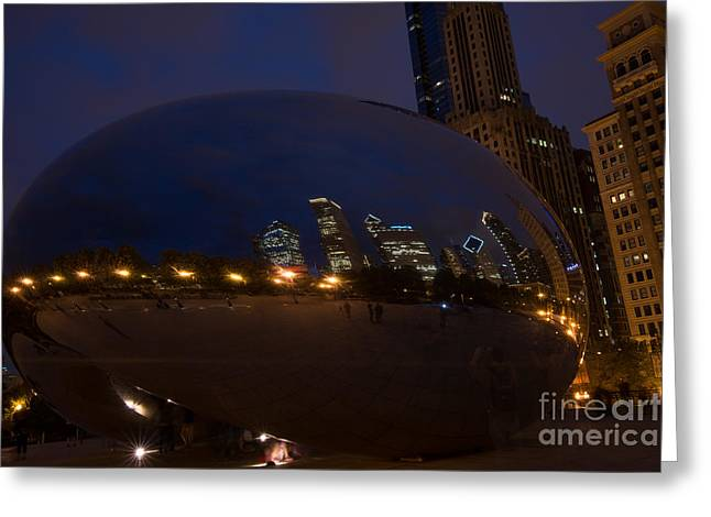 Cloud Chicago Greeting Card by Will Cardoso