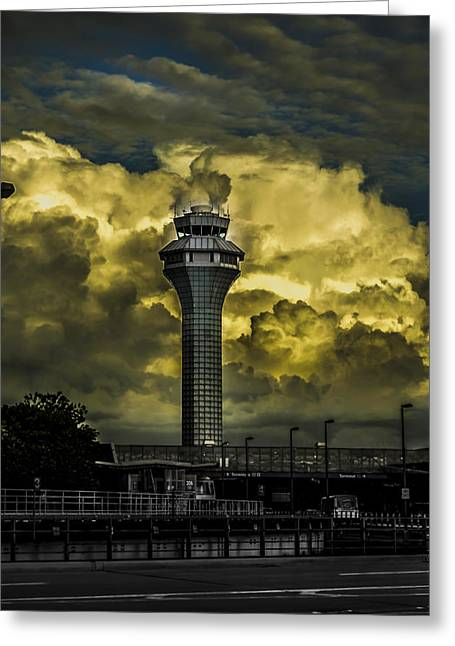 Cloud Control Greeting Card by Alan Marlowe
