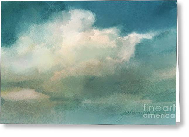 Cloud Diptych Right Greeting Card by Joan A Hamilton