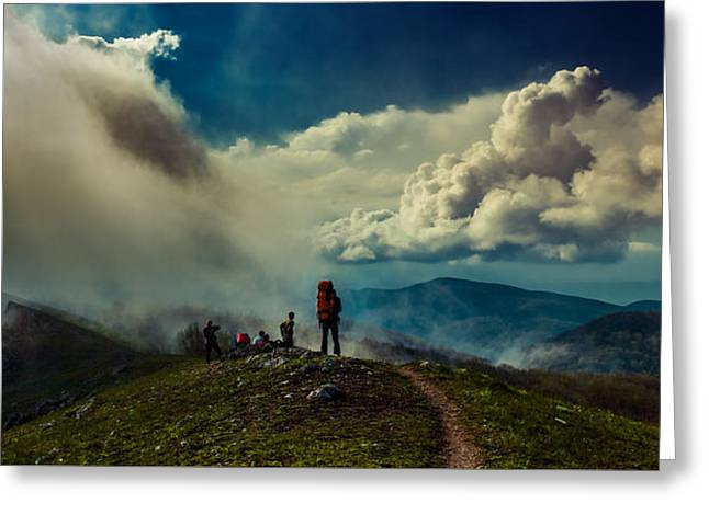 Greeting Card featuring the photograph Cloud Factory by Dmytro Korol