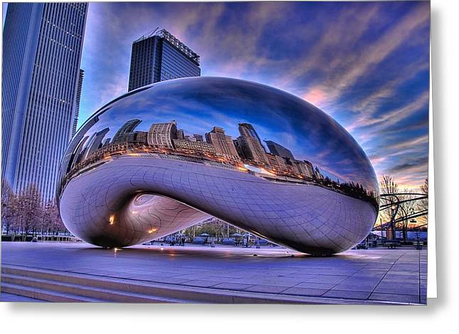 Cloud Gate Greeting Card by Jeff Lewis