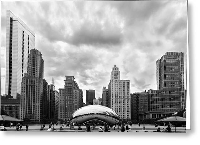 Cloud Gate Greeting Card by Semmick Photo