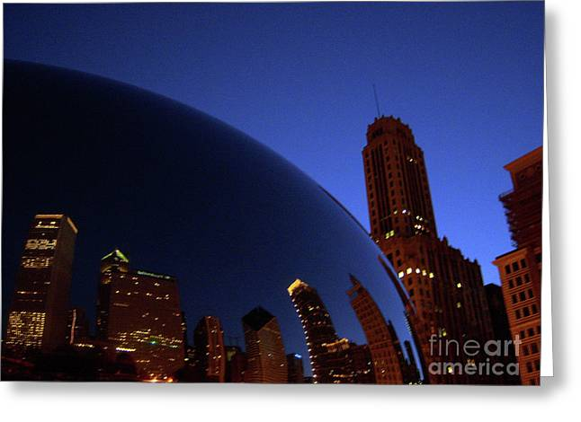 Cloud Gate The Bean Millenium Park Closer Greeting Card by Heather Kirk