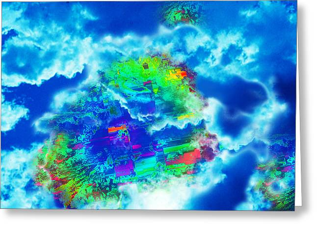 Cloud Genesis Greeting Card by Colleen Cannon