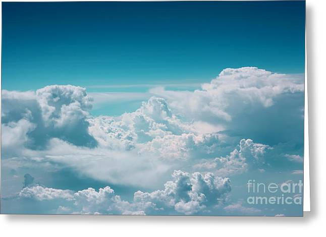 Cloud Greeting Card by Jan Wolf