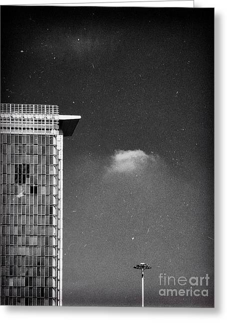 Greeting Card featuring the photograph Cloud Lamp Building by Silvia Ganora