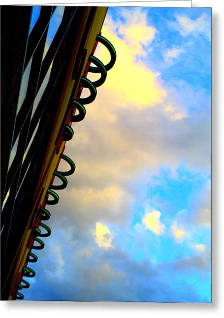 Cloud Loops Greeting Card by Randall Weidner