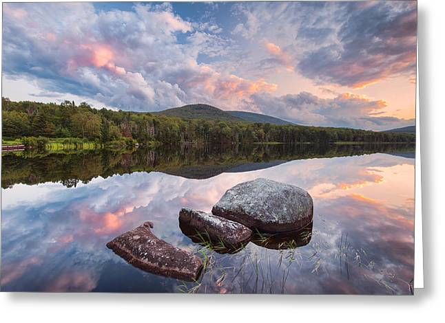 Cloud Mirror Greeting Card by Michael Blanchette
