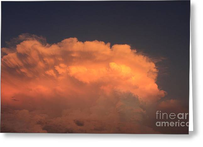 Cloud On Fire Greeting Card by Jerry Bunger