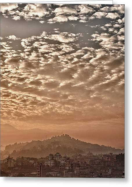 Cloud Over Kathmandu Greeting Card