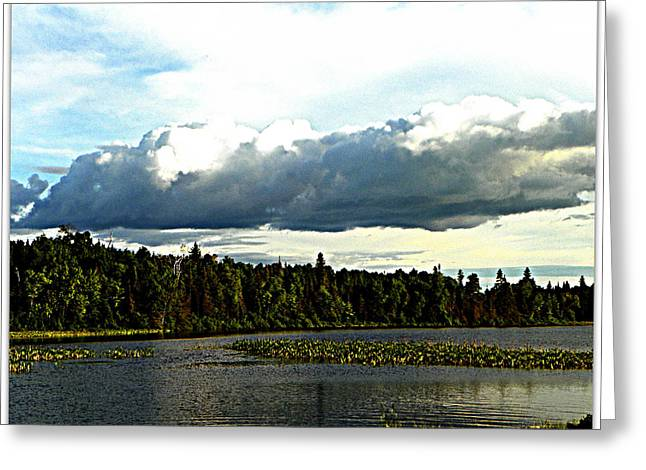 Cloud Over Lake Tomiko Greeting Card by Dianne  Lacourciere