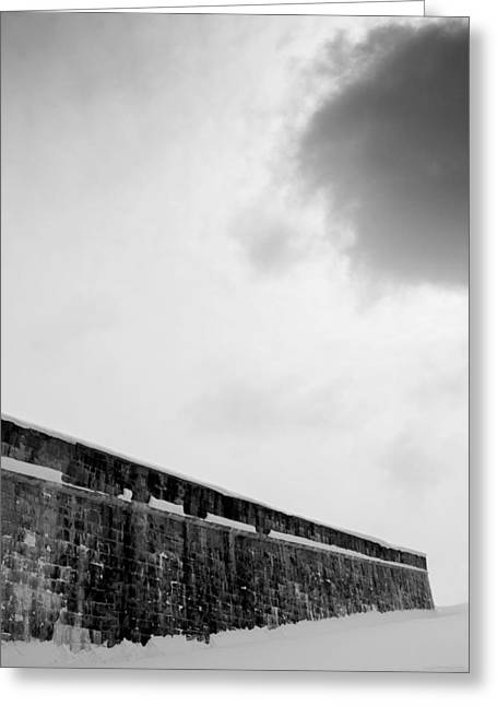 Cloud Over Quebec City Fortifications Greeting Card by Arkady Kunysz