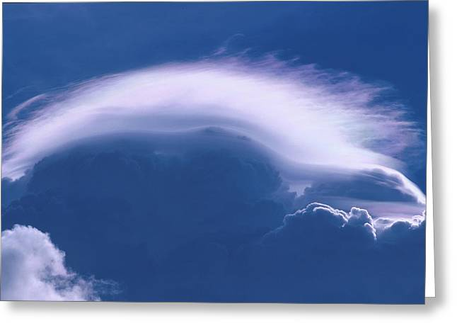 Cloud Over Thundercloud Near Wasilla Greeting Card by Calvin Hall