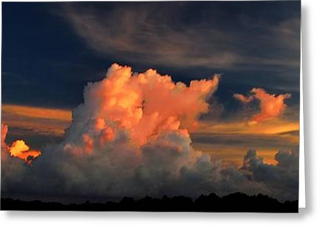 Greeting Card featuring the photograph Cloud Panorama by Richard Zentner