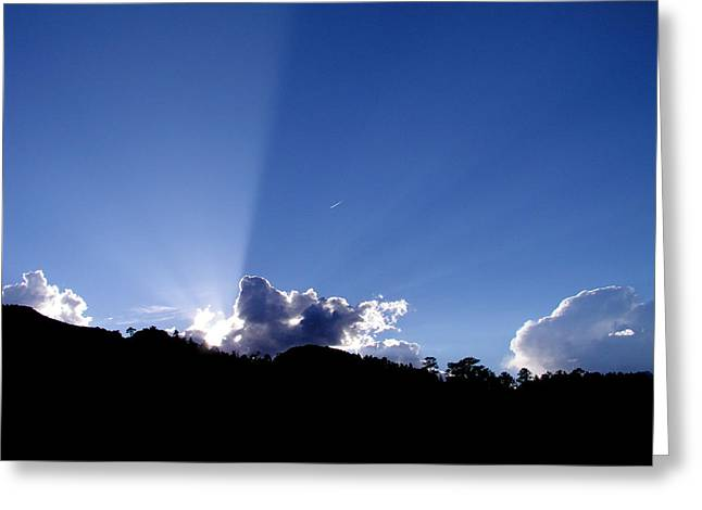Greeting Card featuring the photograph Cloud Rays by Craig T Burgwardt