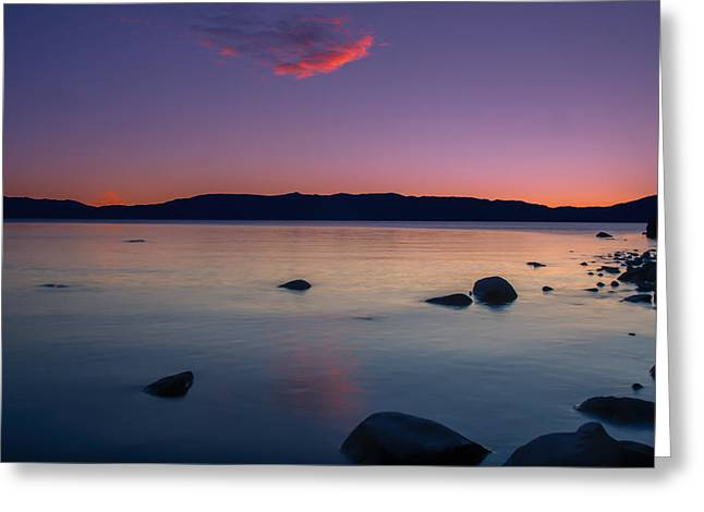 Cloud Reflection Before Sunrise Greeting Card