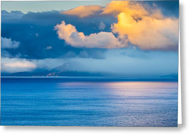 Cloud Reflection On Lake Tahoe Greeting Card by Marc Crumpler