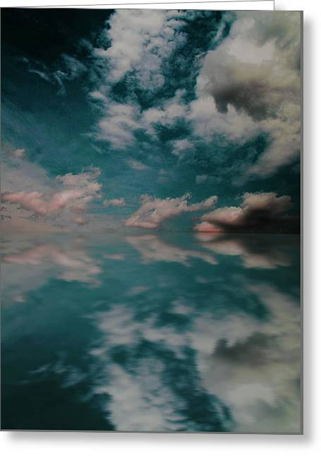Greeting Card featuring the photograph Cloud Reflections by John Stuart Webbstock