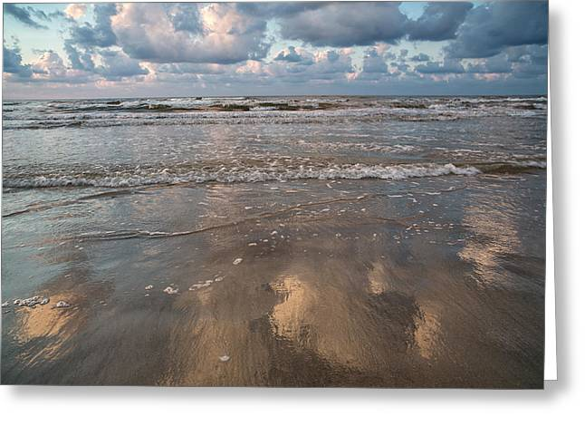 Greeting Card featuring the photograph Cloud Reflections by Sharon Jones