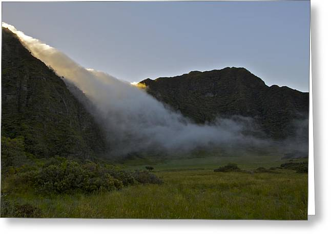 Cloud River Greeting Card by Brian Governale