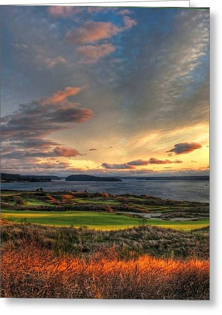 Cloud Serenity - Chambers Bay Golf Course Greeting Card