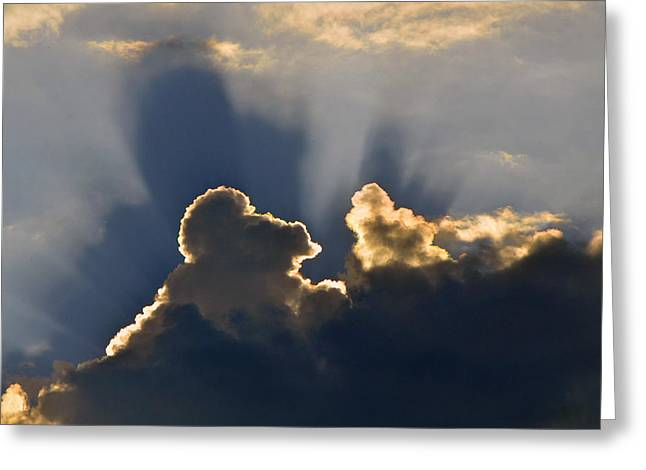 Greeting Card featuring the photograph Cloud Shadows by Charlotte Schafer