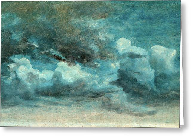 Cloud Study Cumulus Clouds, Lionel Constable Greeting Card