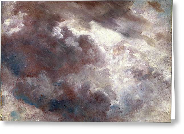 Cloud Study Dark Cloud Study, John Constable Greeting Card by Litz Collection