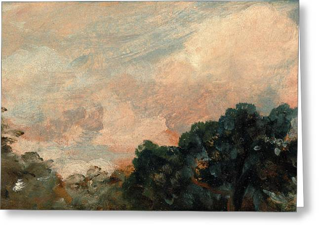 Cloud Study With Trees, John Constable, 1776-1837 Greeting Card