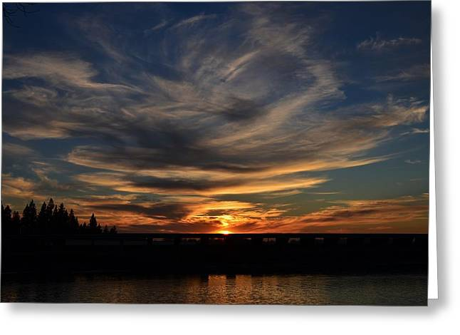 Cloud Swirl Sunset Greeting Card