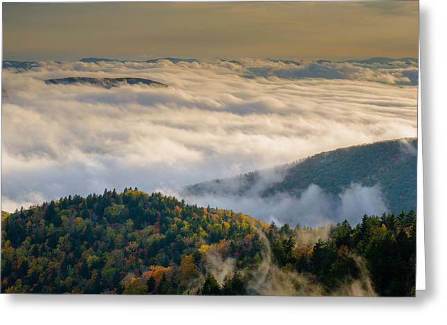Greeting Card featuring the photograph Cloud Valley by Serge Skiba
