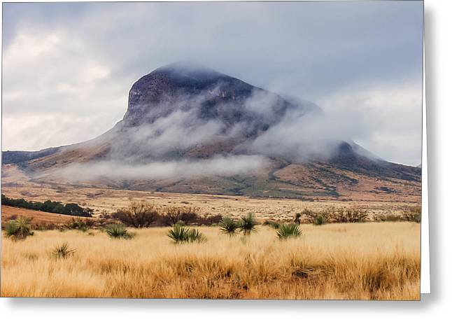 Clouded Knoll Greeting Card by Beverly Parks