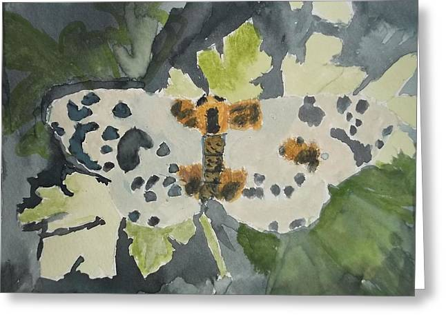 Clouded Magpie Watercolor On Paper Greeting Card