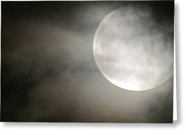 Clouded Moon Greeting Card