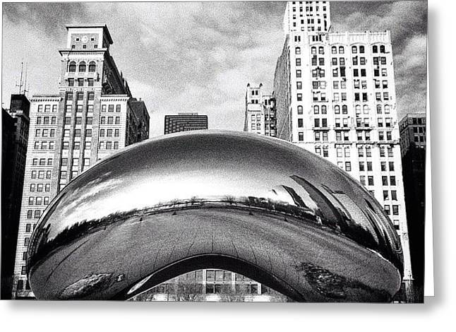 Chicago Bean Cloud Gate Photo Greeting Card by Paul Velgos