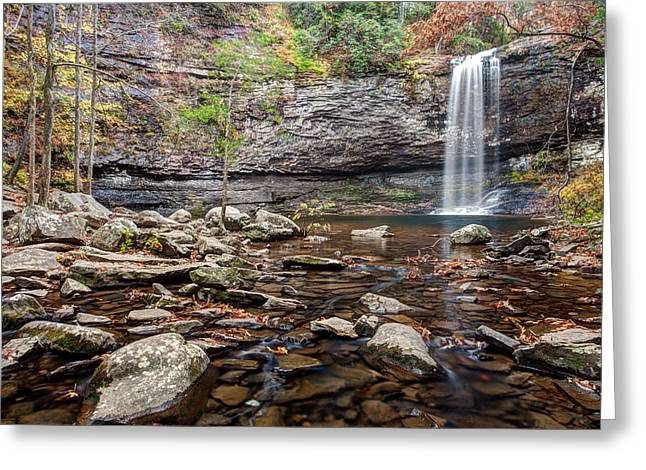 Cloudland Canyon Falls Greeting Card by Scott Moore