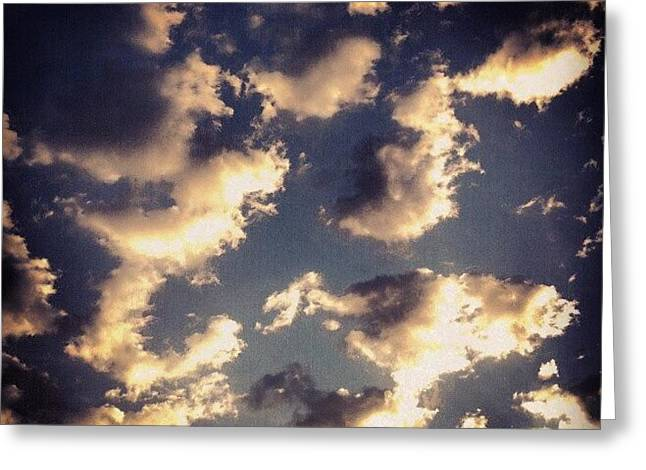 Clouds A Couple Days Ago Greeting Card by Genevieve Esson