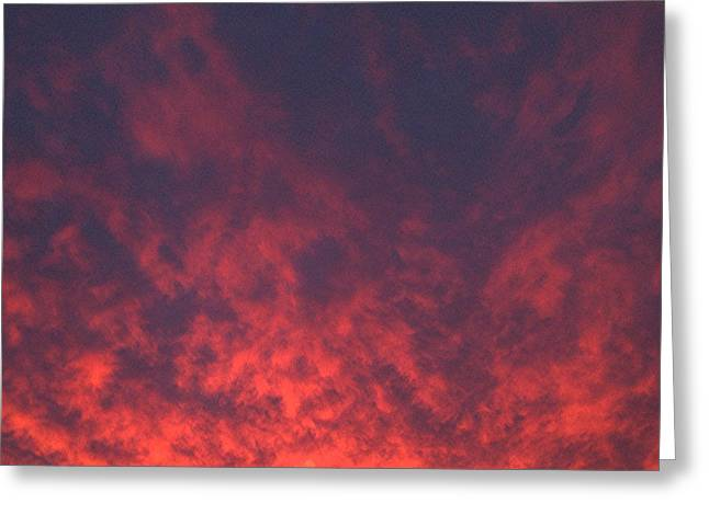 Clouds Ablaze Greeting Card