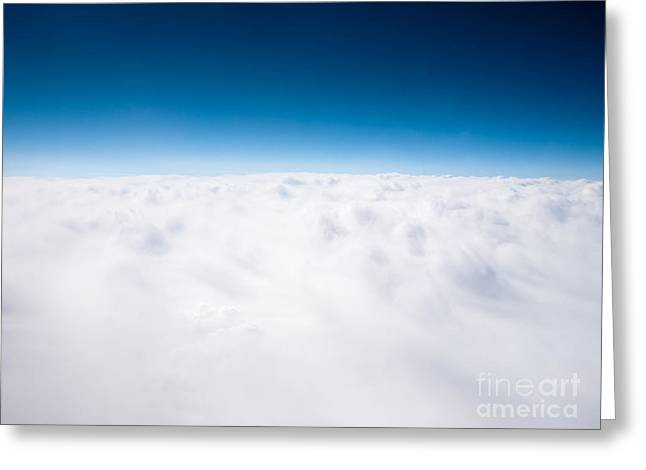Clouds Aerial From Above Background Greeting Card by Paul Velgos