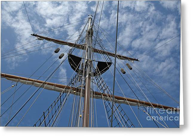 Clouds And Mast Greeting Card