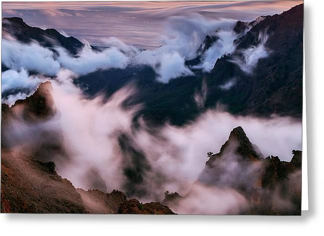 Clouds And Peaks Greeting Card