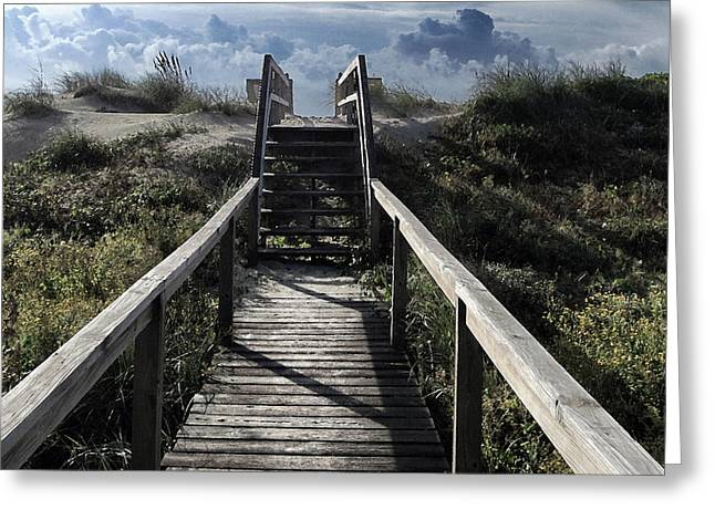 Clouds And Sand Dunes Greeting Card by Patricia Januszkiewicz