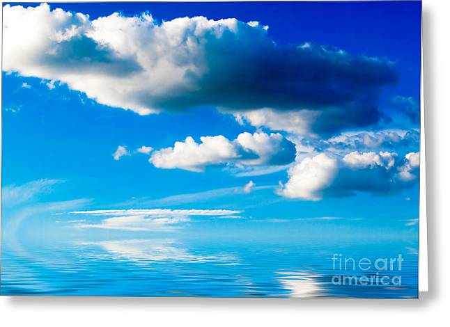 Clouds And Sea Greeting Card by Boon Mee