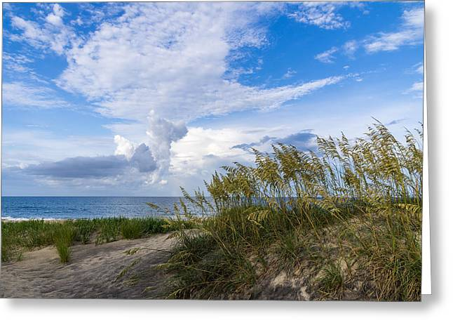 Greeting Card featuring the photograph Clouds And Sea Oats by Gregg Southard