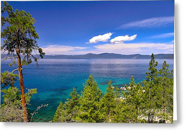 Clouds And Silence - Lake Tahoe Greeting Card