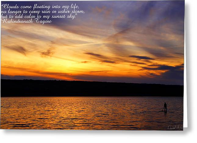 Clouds And Sunsets Greeting Card by David Simons