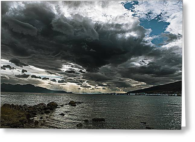 Clouds At Sortland Strait Greeting Card