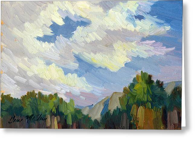 Clouds At Thousand Palms Greeting Card by Diane McClary