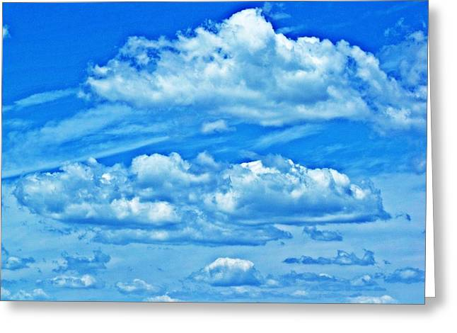 Clouds Greeting Card by Dave Dresser